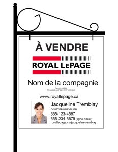 Royal LePage lawn sign_fr