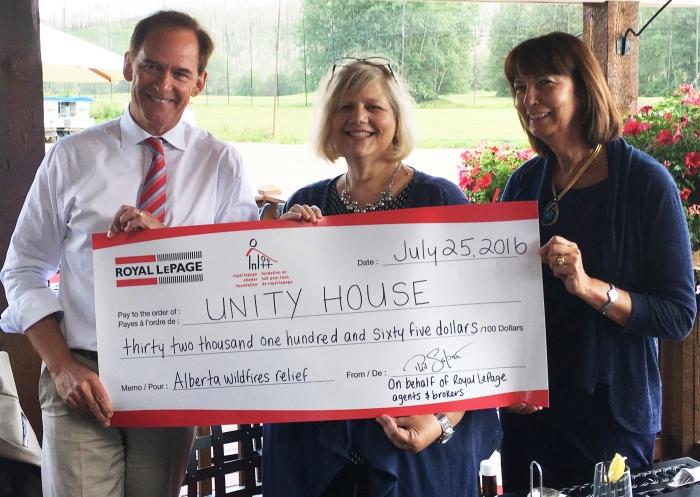 Fort McMurray Unity House cheque